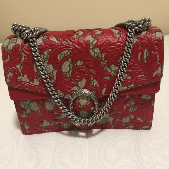 17d7649d24efe1 Gucci Bags | Dionysus Arabesque Shoulder Bag Red | Poshmark